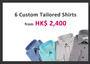 6 Bespoke Shirts from HK$ 2,400 by Raja Fashions