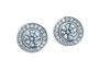 Diamond Halo Earrings $12,800                by Haywards of Hong Kong
