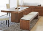 Dining table and bench set by GQ Interiors