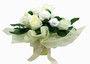 Medium Cream Bouquet - 800HKD in white by Dotty Bee