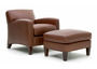 Leather armchair & ottoman by GQ Interiors