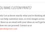 Can we make custom print?