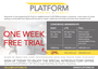 Interested in a co-working desk at PLATFORM? Sign up before April 30th for a one week FREE trial!