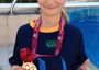 """A Gold medal for another MorSports kid in her first ever swim gala! """"Let's swim MOR"""""""