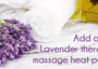 Add on a Lavender therapy massage heat pack for $200 with any body massage! Book online http://go...