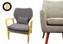 Lounge in style - New lounge chairs made from solid oak and premium woven fabrics.