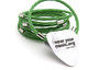 Groovy Green Guitar String Bracelet - Make them green with envy and rock this http://goo.gl/rx0Prz