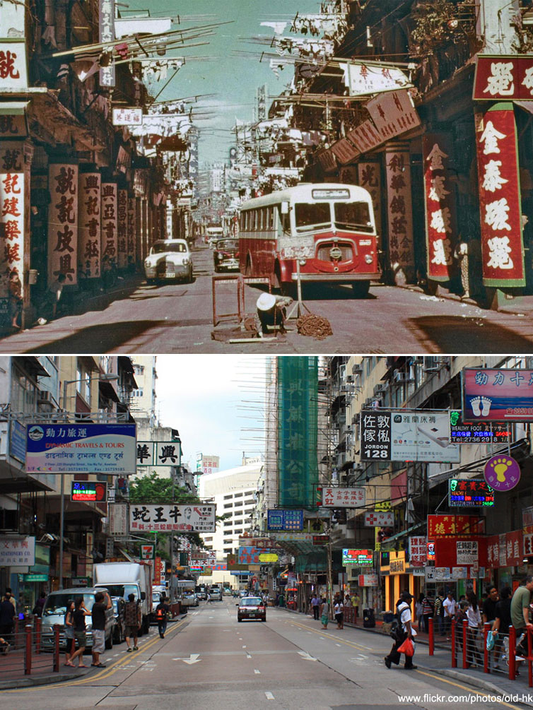Shanghai Street Nanjing Street Junction Yau Ma Tei